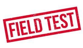 Field Test rubber stamp. Grunge design with dust scratches. Effects can be easily removed for a clean, crisp look. Color is easily changed Royalty Free Stock Photo