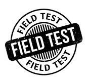 Field Test rubber stamp. Grunge design with dust scratches. Effects can be easily removed for a clean, crisp look. Color is easily changed Stock Photography