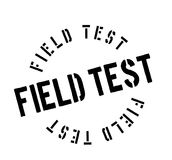 Field Test rubber stamp. Grunge design with dust scratches. Effects can be easily removed for a clean, crisp look. Color is easily changed Stock Images