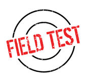 Field Test rubber stamp. Grunge design with dust scratches. Effects can be easily removed for a clean, crisp look. Color is easily changed Stock Photo