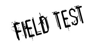 Field Test rubber stamp Stock Photography