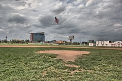Field at Tiger Stadium in Detroit Michigan Stock Image
