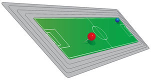 Field to play soccer. Scheme of the field to play soccer. Vector illustration Stock Photo