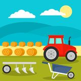Field tool concept background, flat style stock illustration