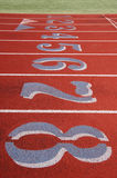 Field track with numbers Stock Images