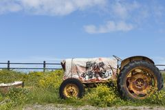 Field, Tractor, Agricultural Machinery, Vehicle stock photo