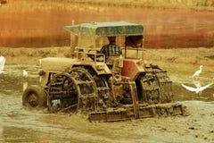 field traktoren Arkivfoton