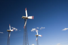 field turbines wind yellow Arkivbilder