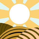 Field. Vector illustration of field. Solid fill only Stock Images