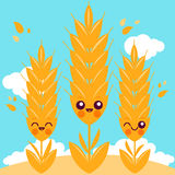 Field with wheat characters Stock Photography