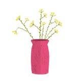 Field wild flower in vase hand drawn cartoon Stock Photo