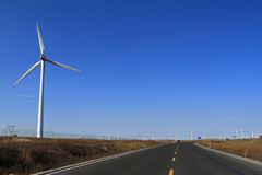 A field of wind turbines. In Inner Mongolia of china Royalty Free Stock Image