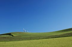 Field and windmills Royalty Free Stock Photos