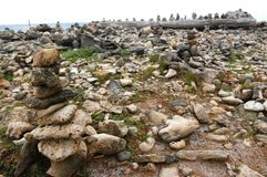 Field of wishing stones stock photography