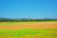 Free Field With ETL In Yverdon Les Bains In Switzerland Stock Photo - 81165420