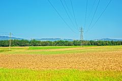 Free Field With ETL In Yverdon Les Bains Of Switzerland Royalty Free Stock Photo - 81164625