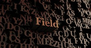 Field - Wooden 3D rendered letters/message. Can be used for an online banner ad or a print postcard Stock Photos