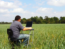 Field-work Lizenzfreies Stockbild