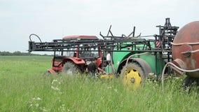 Field work machinery stock video