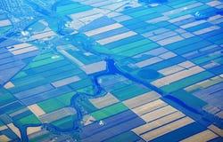 fields övre sikt för ryss Royaltyfri Fotografi