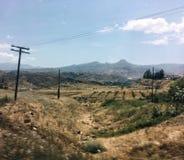 fields горы Стоковая Фотография