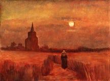 fields старая башня иллюстрация штока