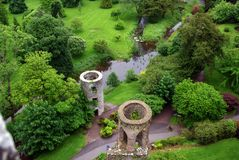 Fields around Blarney Castle in Ireland Stock Image