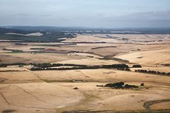 Fields of Australian agricultural landscape Royalty Free Stock Photos