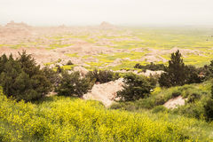 Rolling, Falling Fields | Badlands National Park, South Dakota, USA Royalty Free Stock Photos