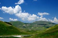 Fields of Castelluccio di Norcia Stock Image