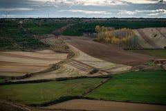 Fields Castile. Fields of Castile in autumn Stock Photo