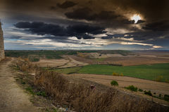 Fields of Castile. In autumn Stock Images