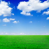 Fields and clouds Royalty Free Stock Photos