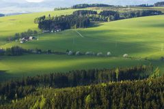 Fields in Czech countryside Royalty Free Stock Photo