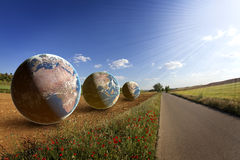 Fields of Earth, environment, saving world. Concept Royalty Free Stock Photography