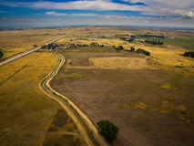 Fields on Eastern Plains of Colorado Royalty Free Stock Photos