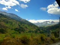 Fields. Ecuador landscape mountains nature Andes south America Royalty Free Stock Images