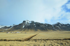 Fields and Farms By the Rhyolite Mountains Stock Image