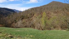 Fields and Forests. A view of the Italian Tuscany fields and forests royalty free stock image