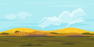 Fields Game Background Landscape Stock Photo