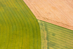Fields from height of bird`s flight, is similar to multi-colored geometric pattern royalty free stock photo