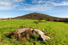 Fields and hills Cornwall countryside Zennor near St Ives Stock Images
