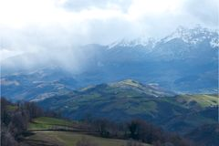 Hills in Abruzzo Royalty Free Stock Photo