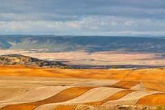 Fields and hills of Spain at winter Royalty Free Stock Photography