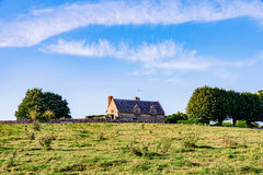 Fields with house Stock Images