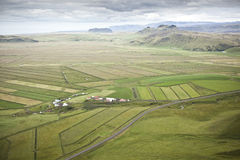 Fields in Iceland. The area of Vik i Myrdal, fields and farmland Vik is the southernmost village in Iceland, located on the main ring road around the island. The stock photos
