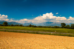 Fields of Italy in a spring day Royalty Free Stock Photo