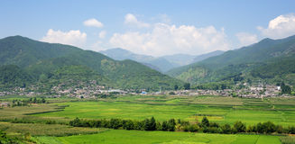 Fields landscape. The fields landscape in Western  mountains of China Stock Photos