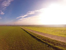 Fields landscape in autumn. Fall Royalty Free Stock Photos