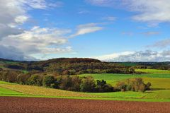 Fields landscape in Gemany, Royalty Free Stock Image